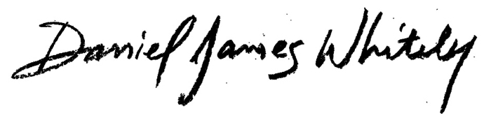 Daniel James Whitely signature